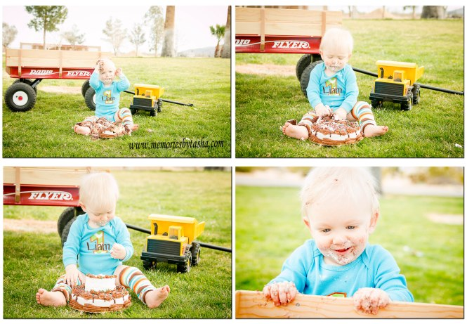 Twentynine Palms Photography, Twentynine Palms Children's Photography, Twntynine Palms Cake Smash, Liam 12